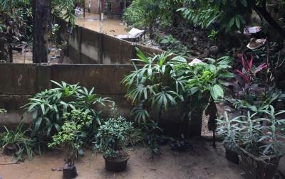 Luapan Air Sungai Deli Perlahan Mulai Surut