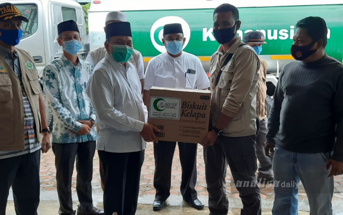AMCF Sumut Serahkan Bantuan Untuk Korban Banjir di Langsa