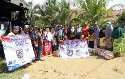 KNPI Sumut Serahkan Bantuan dari Kemensos ke Masyarakat Labura