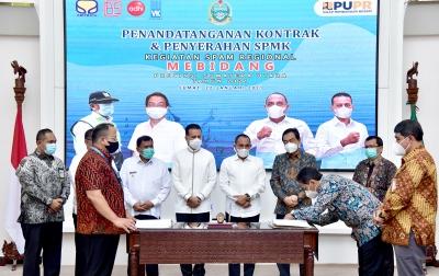 Kapasitas Air Bersih Mebidang Bertambah 1.100 Liter per Detik
