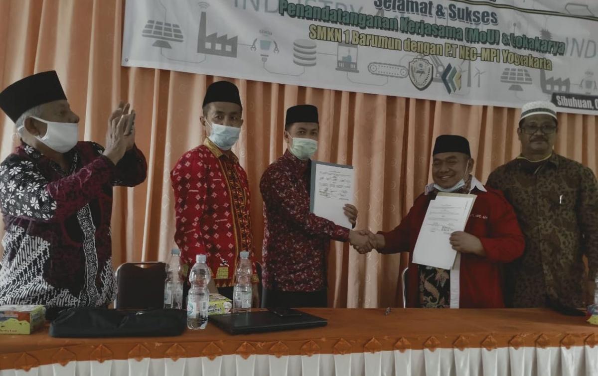 SMKN 1 Barumun Jalin Kerja Sama NEC MPI Yogyakarta