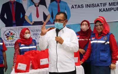 Akhyar Donor Darah di Kampung Sejahtera