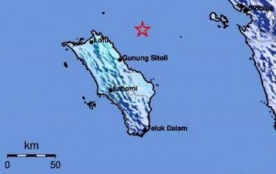 Gempabumi 4,5 Magnitudo Guncang Pulau Nias