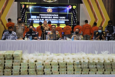 Polda Aceh Ungkap 353 Kg Narkotika Jaringan Internasional