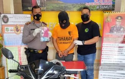 Polisi Tangkap Penjambret Wanita di Mini Market Jalan Brigjend Katamso