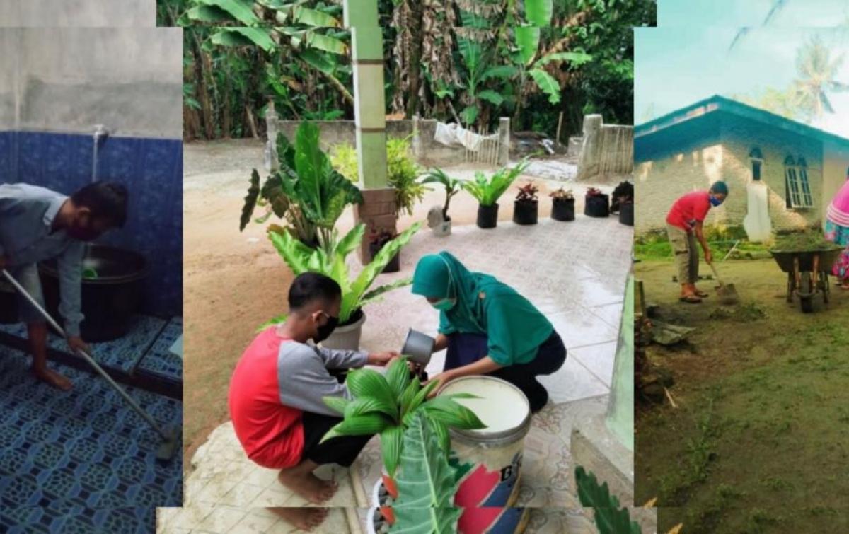SMP Negeri 1 Pulau Rakyat Asahan Tanamkan Sikap Peduli Lingkungan