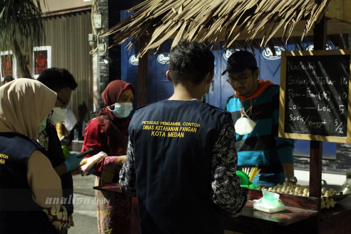 Dinas Ketahanan Pangan Cek Kuliner di Kesawan City Walk