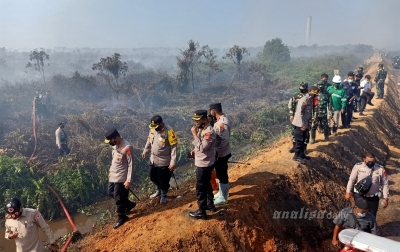 Irjen Wahyu Tinjau Dua Titik Api di Aceh