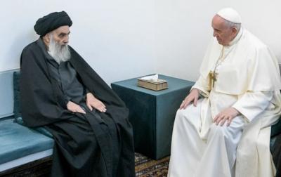 Paus Fransiskus Kunjungi Rumah Ulama Syiah Irak