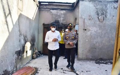 Tinjau Kebakaran Rumah, Gubsu Minta Pembangunan Selesai Sebelum Ramadan
