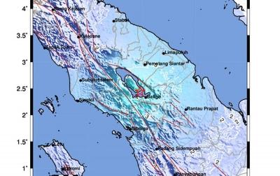 Gempa Tektonik M5,0 Terjadi di Balige