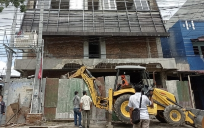 Anak Buah Bobby Nasution Hancurkan Gedung Tak Berizin