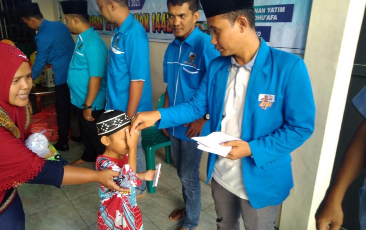 Bakti Ramadan KNPI di Binjai: Motivasi Bagi Anak-anak Yatim
