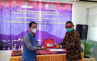 Bank Indonesia Perpanjang Kas Titipan di BNI Balige