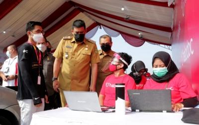Bobby Nasution Tinjau Simulasi Vaksinasi Drive Thru