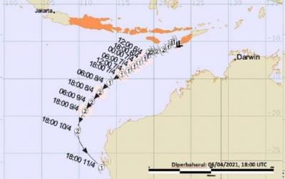 BMKG: Siklon Tropis Seroja Diprediksi Meningkat 24 Jam ke Depan