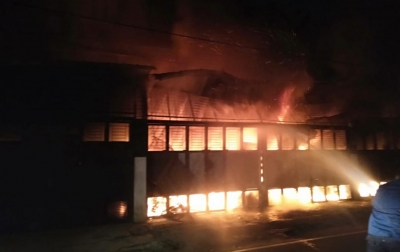 1 Orang Tewas Dalam Kebakaran Ruko di Jalan Rahmadsyah Medan