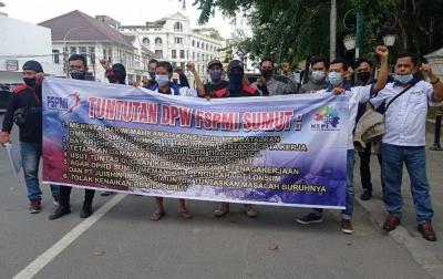 FSPMI Sumut Aksi Lagi, Cabut UU Cipta Kerja Harga Mati