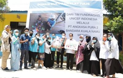 Angkasa Pura II Bersama UNICEF Bantu Pendidikan di Deli Serdang