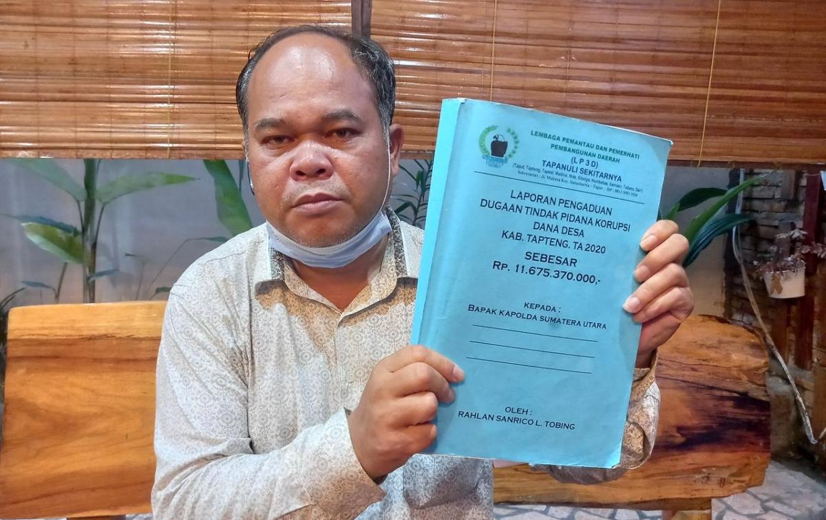 Dugaan Penyimpangan Dana Desa, Bupati Tapteng Dilaporkan ke Polda Sumut