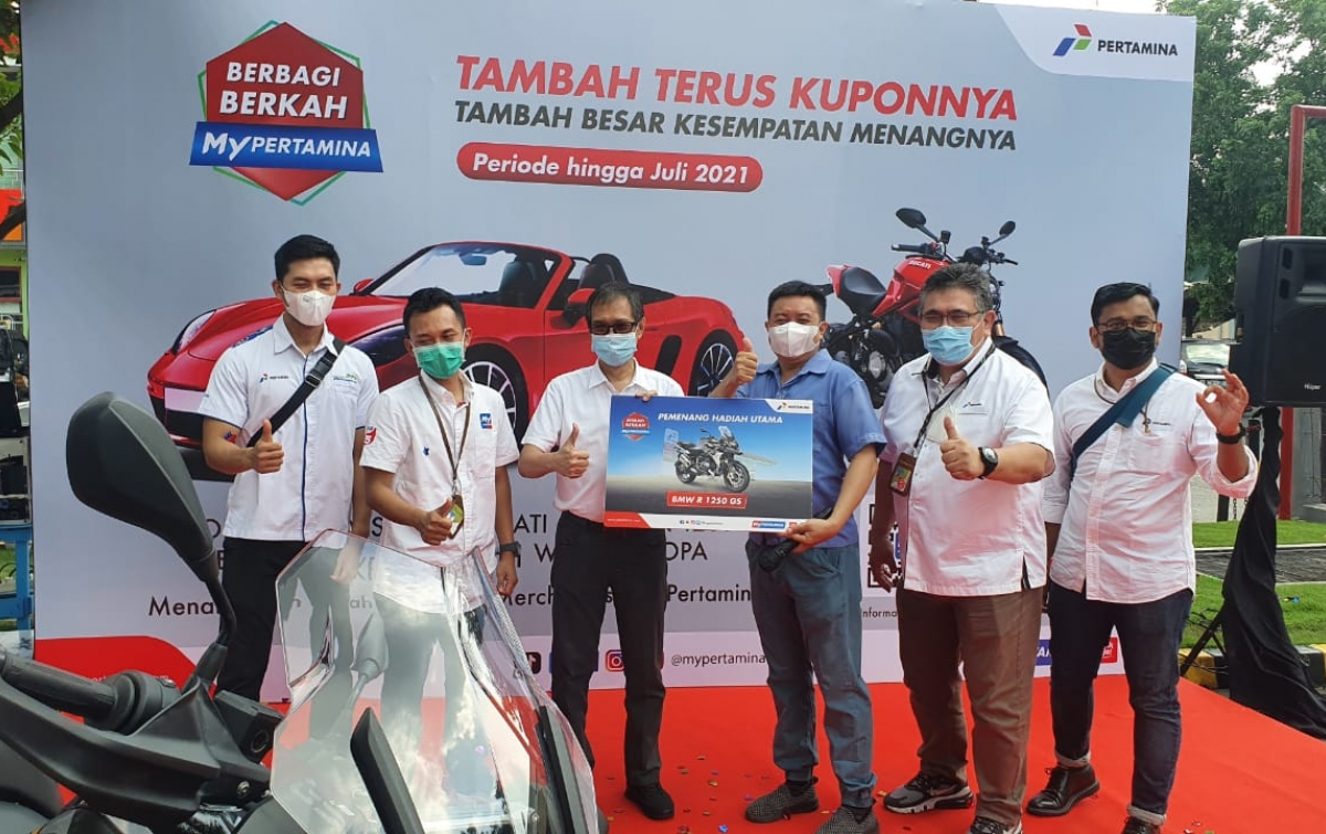 Gunakan MyPertamina, Warga Medan Menangkan Hadiah Utama BMW R 1250 GS