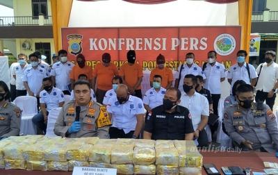 Polrestabes Medan Ungkap Jaringan Narkotika Internasional, Sita 40 Kg Sabu