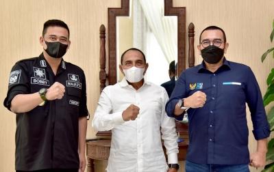 Bobby Nasution Kembali Temui Gubsu Edy Rahmayadi, Kali Ini Ada Arya Sinulingga