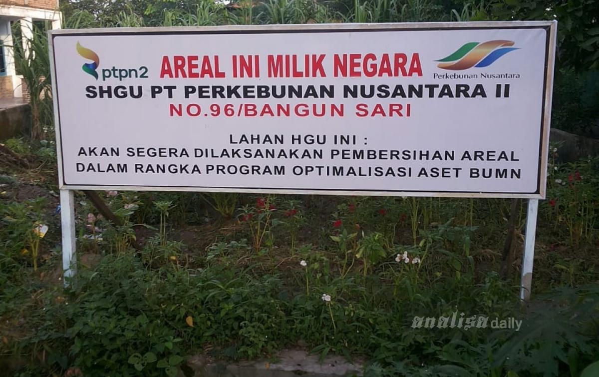 Serobot Lahan, PTPN2 Laporkan Ketua Kelompok Tani