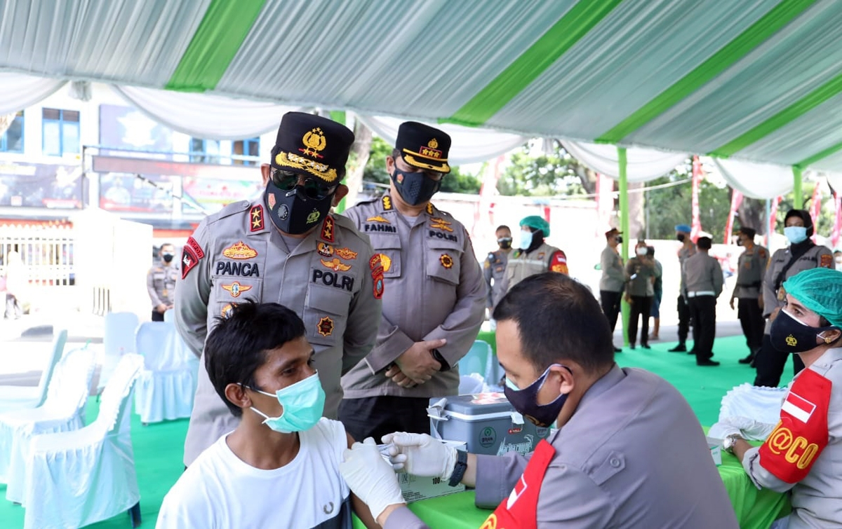 Polda Sumatera Utara Sudah Memvaksin 72.506 Orang