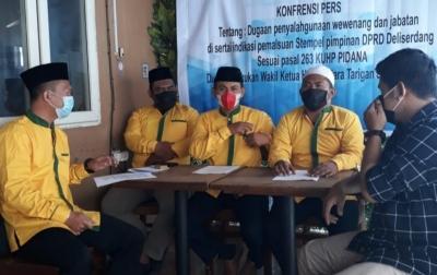 Wakil Ketua DPRD Deli Serdang Diduga Gunakan Stempel Ketua Tanpa Izin