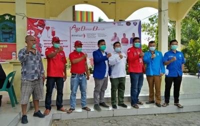 Aksi Donor Darah GAMKI dan Pemuda Batak Bersatu Paluta Sukses