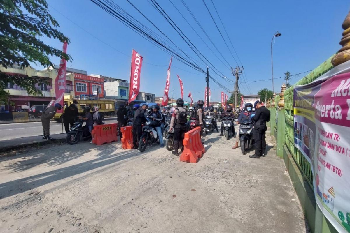 Operasi PPKM Darurat, Polresta Deli Serdang Putar Balik 650 Kendaraan