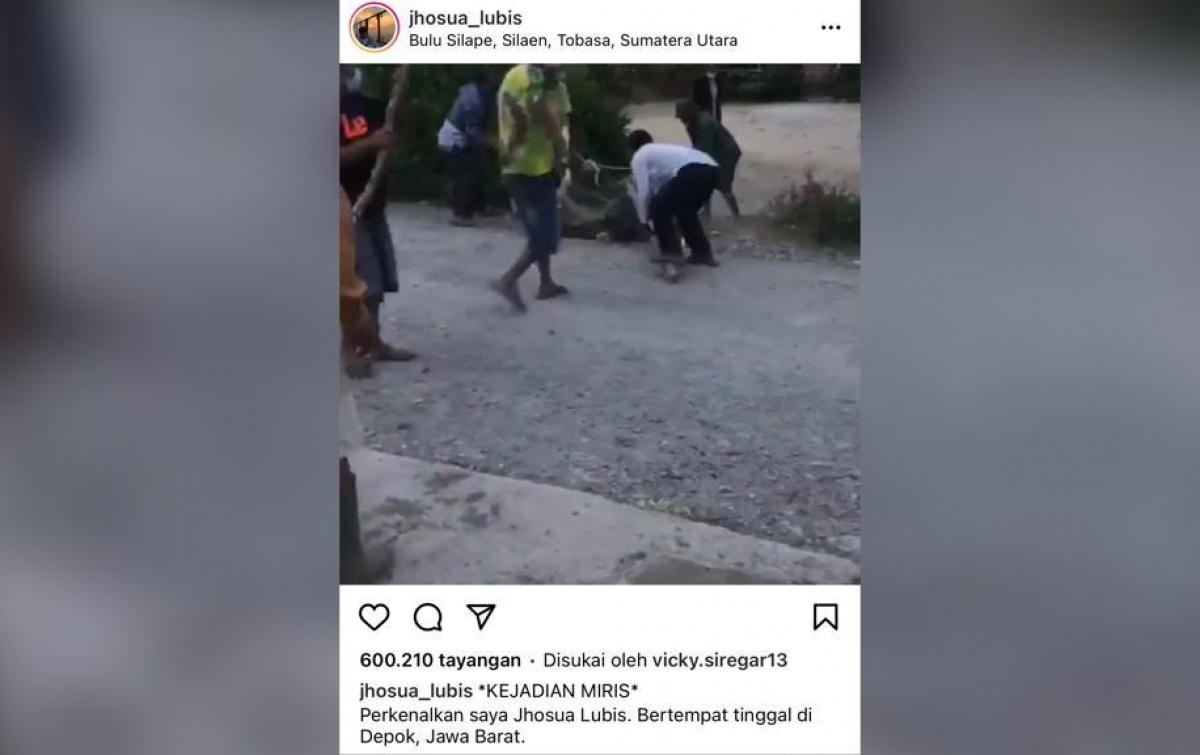 Viral Video Pria Positif Covid-19 di Toba Dikeroyok Massa Saat Isoman
