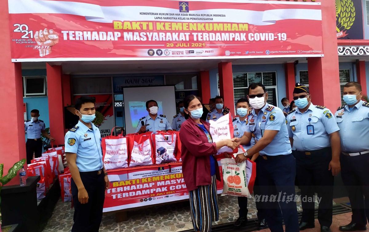 Lapas Narkotika Peduli Masyarakat Terdampak Pandemi Covid-19