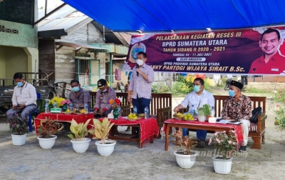 Anggota DPRD Sumut Ajak Sukseskan Vaksinasi di Hutabayu Raja