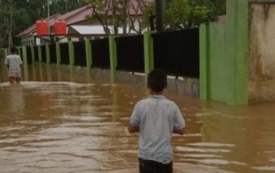 Sempat Surut, Banjir Kembali Landa 2 Desa di Kabupaten Aceh Jaya