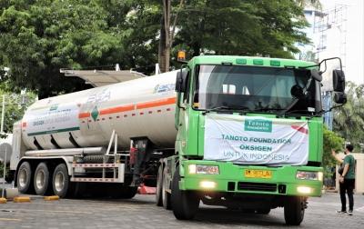 Pemerintah Terima Bantuan 500 Ton Oksigen Cair dari Tanoto Foundation