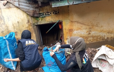 TKP Bersama Sejumlah Organisasi Bantu Warga Terdampak Longsor di Siantar