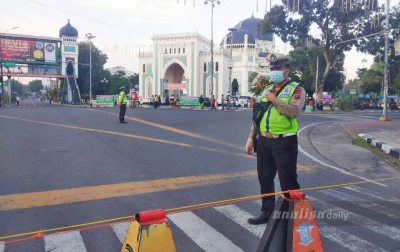 Pemko Medan Tetap Lakukan Penyekatan Jalan