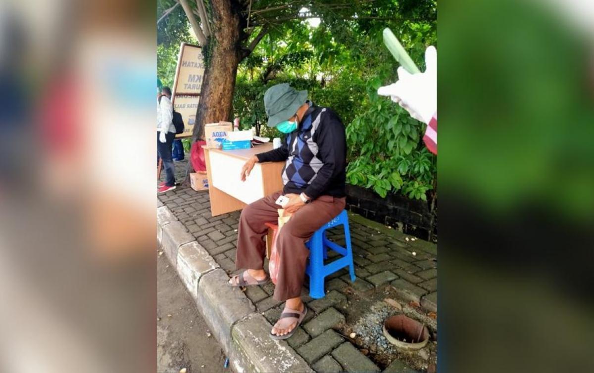 Positif Covid-19, WNA Datangi Pos Penyekatan di Jalan Sisingamangaraja Medan