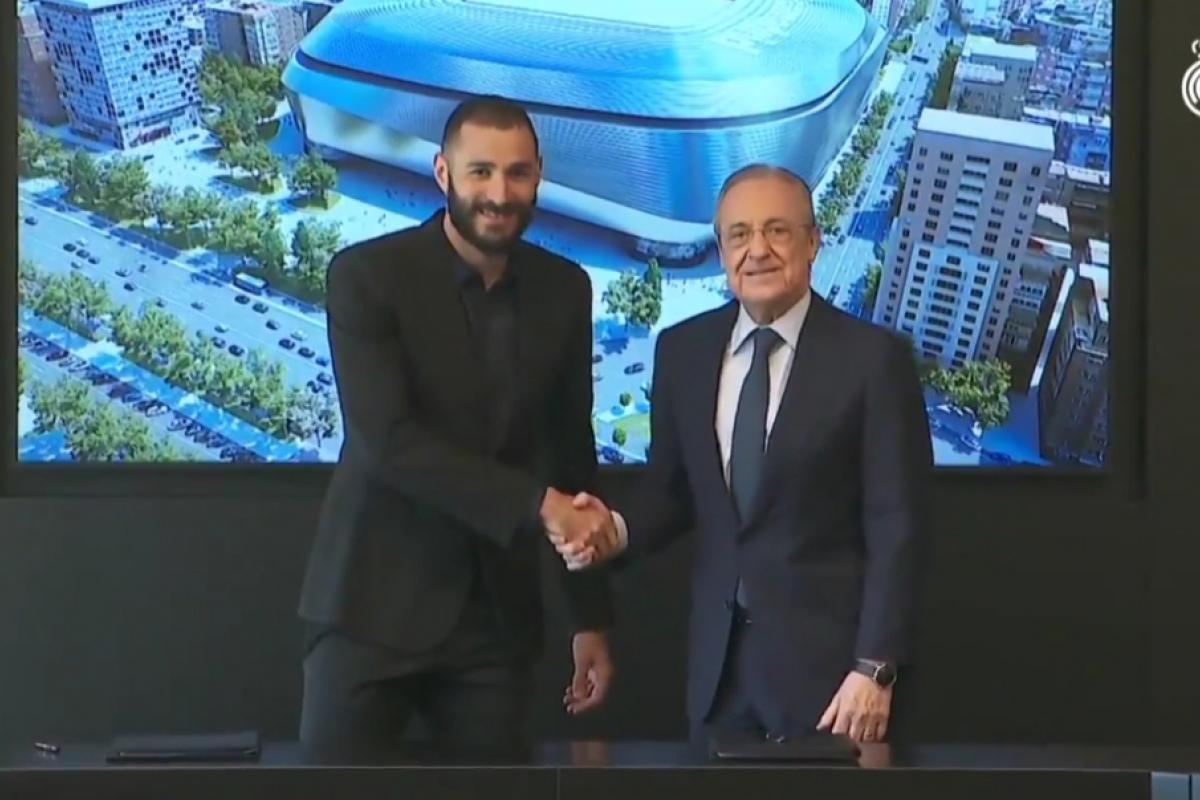 Karim Benzema Tanda Tangani Kontrak Baru