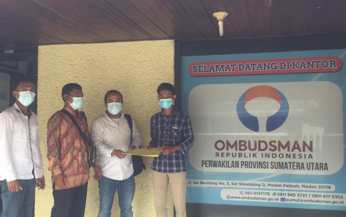 Masyarakat Adat Sihaporas Mengadu ke Ombudsman Sumatera Utara