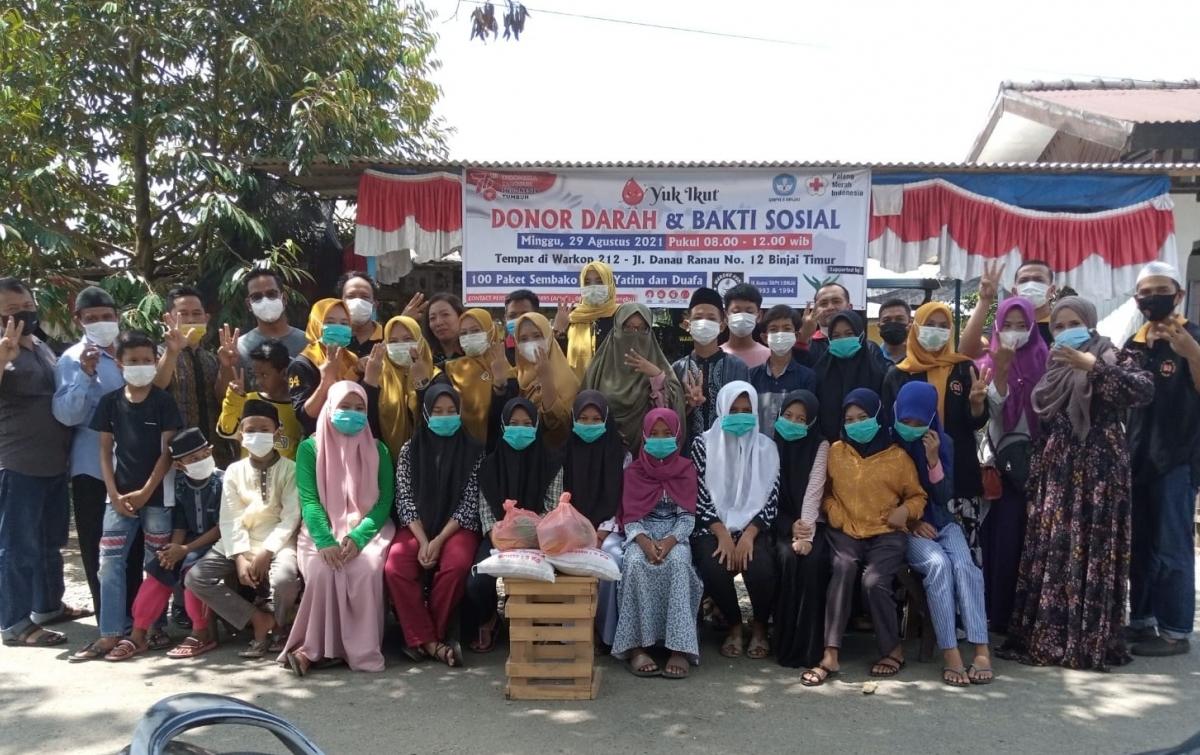 IKA SMPN3 Binjai Angkatan 93/94 Donor Darah dan Bakti Sosial
