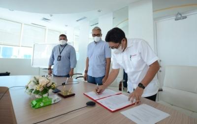 Kembangkan Bisnis Marine Services, Pelindo I dan PTK Tandatangani Nota Kesepahaman