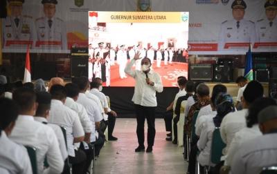 Gubsu Dorong Labura Jadi Contoh  Daerah dengan Ketahanan Pangan
