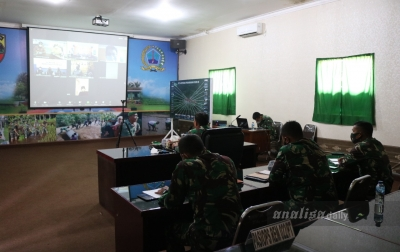 Danrem 022/PT Pimpin Rapat Operasi Penegakan Disiplin Prokes Covid-19