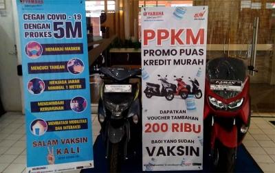 Yamaha Pameran di Maju Bersama Katamso, Ada Diskon untuk Konsumen yang Sudah Vaksin