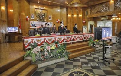 Pemkab Asahan Dengarkan Pidato Kenegaraan Jokowi Lewat Virtual