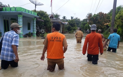 Sebagian Besar Wilayah Terdampak Banjir di Asahan Berangsur Surut