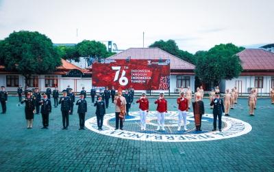 Poltekbang Medan Gelar Upacara HUT ke-76 Kemerdekaan RI dengan Protokol Kesehatan